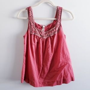 LUCKY BRAND Embellished U Tank Top Size Small